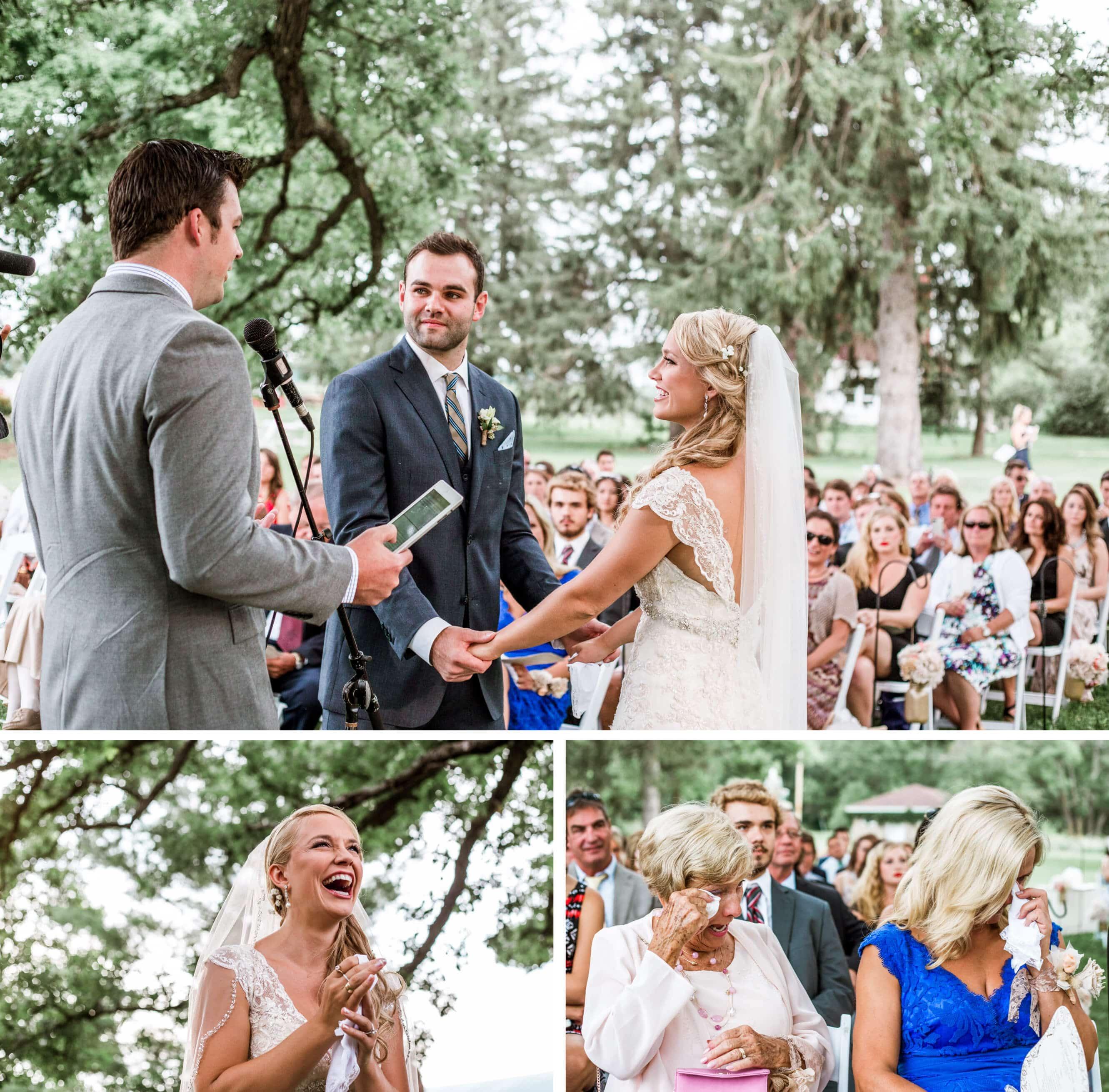 Oak tree ceremony vows - Sussex Wedding Photographer
