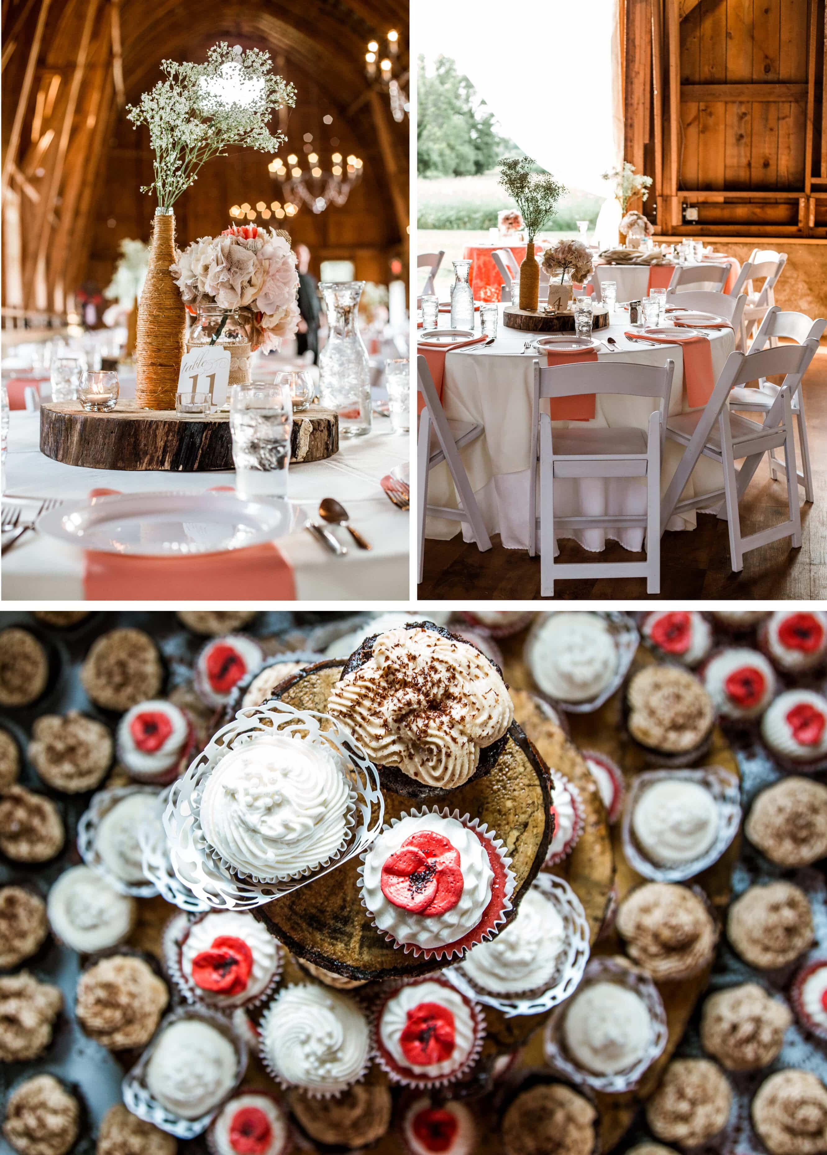 Sussex Wedding Photographer - Barn wedding reception decor