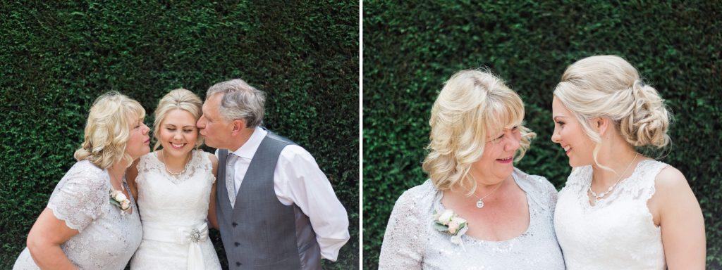 Cheshire bride with parents portraits - Brighton wedding photographer