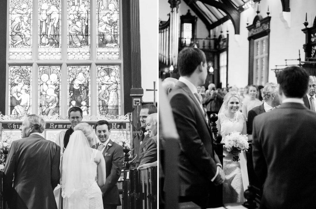 Christ Church Woodford cremony first look - Brighton wedding photographer