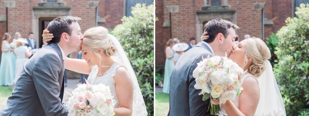 Chirst Church Woodford wedding celebration outside in Cheshire - Brighton wedding photographer