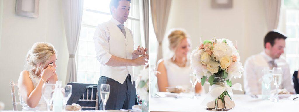 Quarry Bank Mill wedding breakfast toasts - Brighton wedding photographer