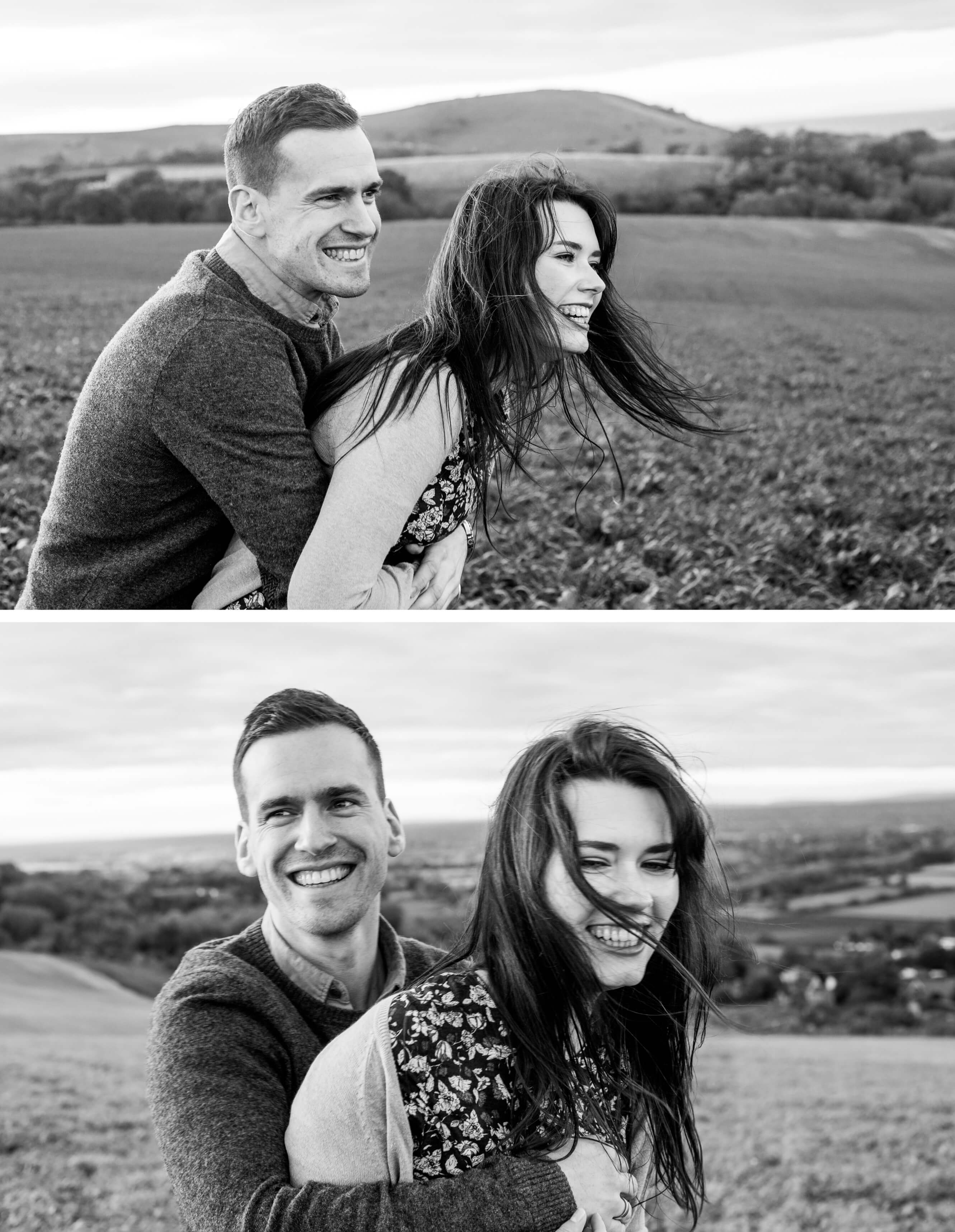 Brighton Engagement Photographer _ West Sussex engagement shoot on South Downs