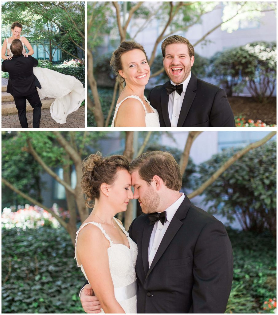 St. Louis Union Station Couple Wedding Portraits - Brighton Photographer