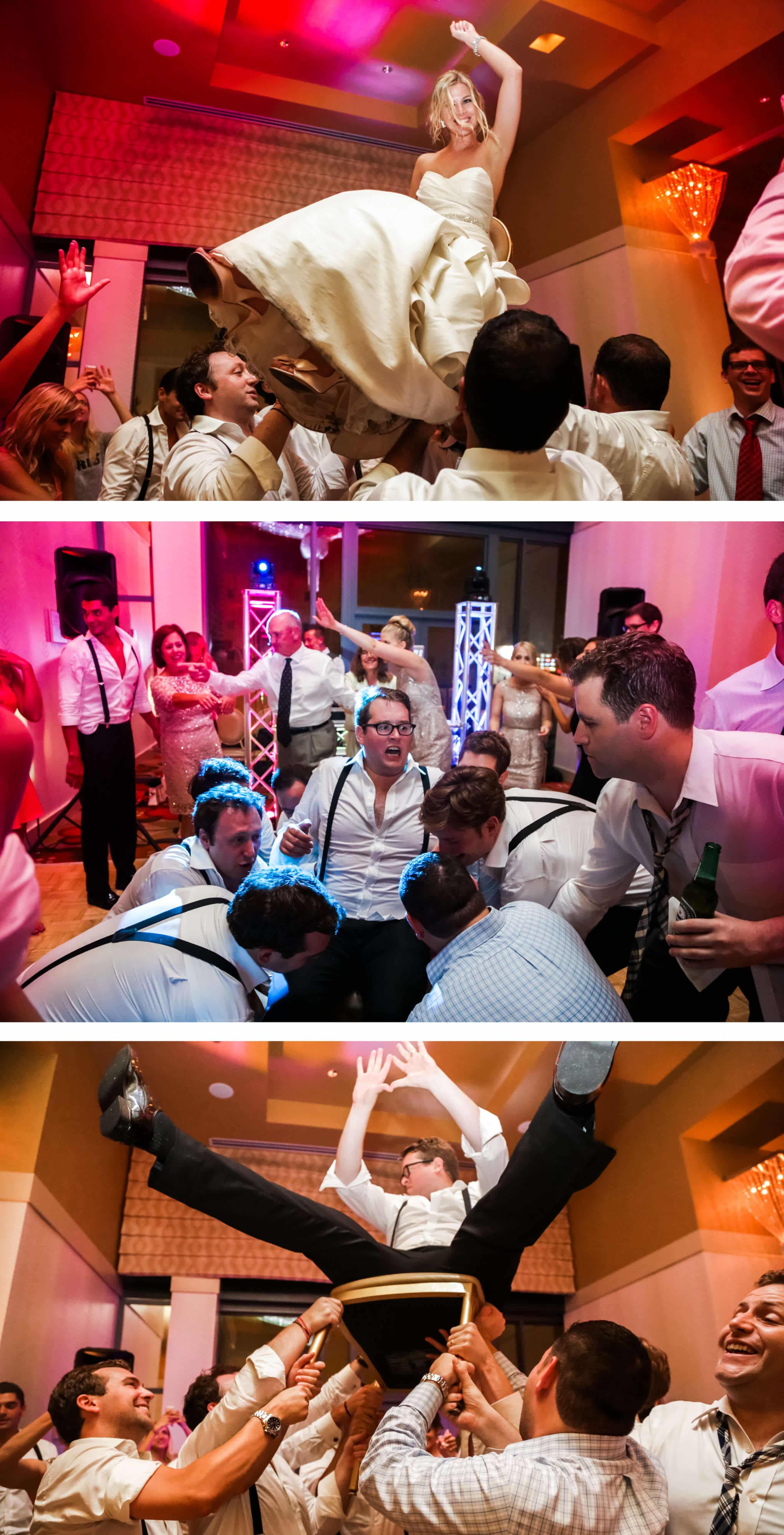 Kimpton Hotel Palomar Horah dance - Sussex wedding photographer
