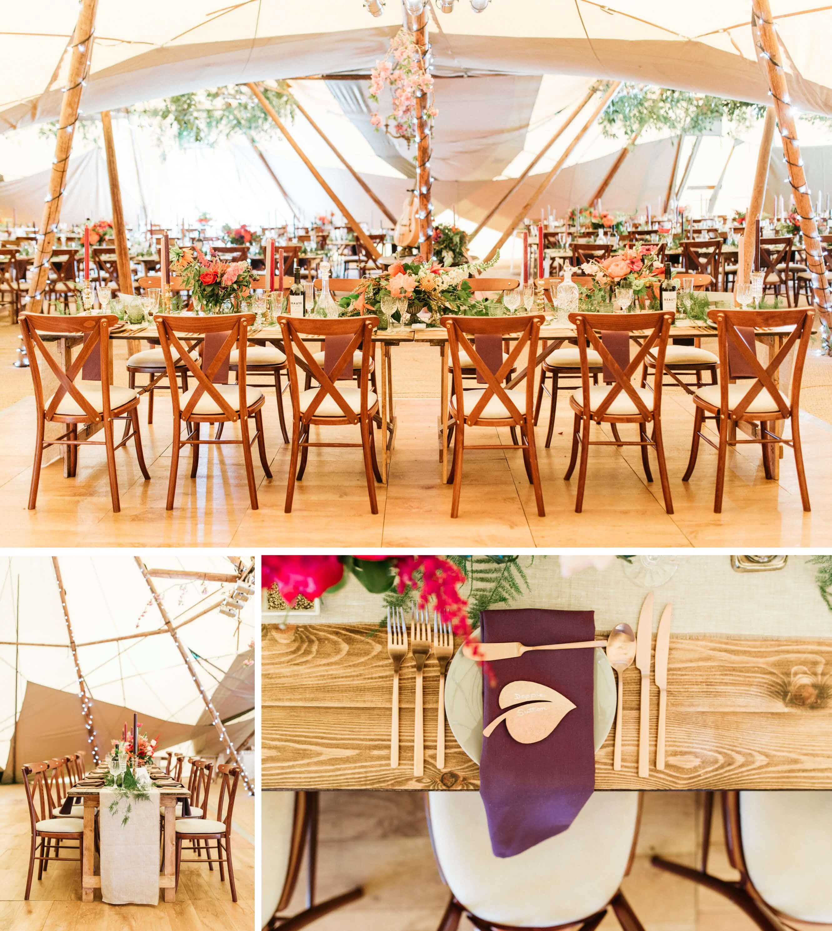 Horsham wedding photographer in West Sussex- warnham tipi reception