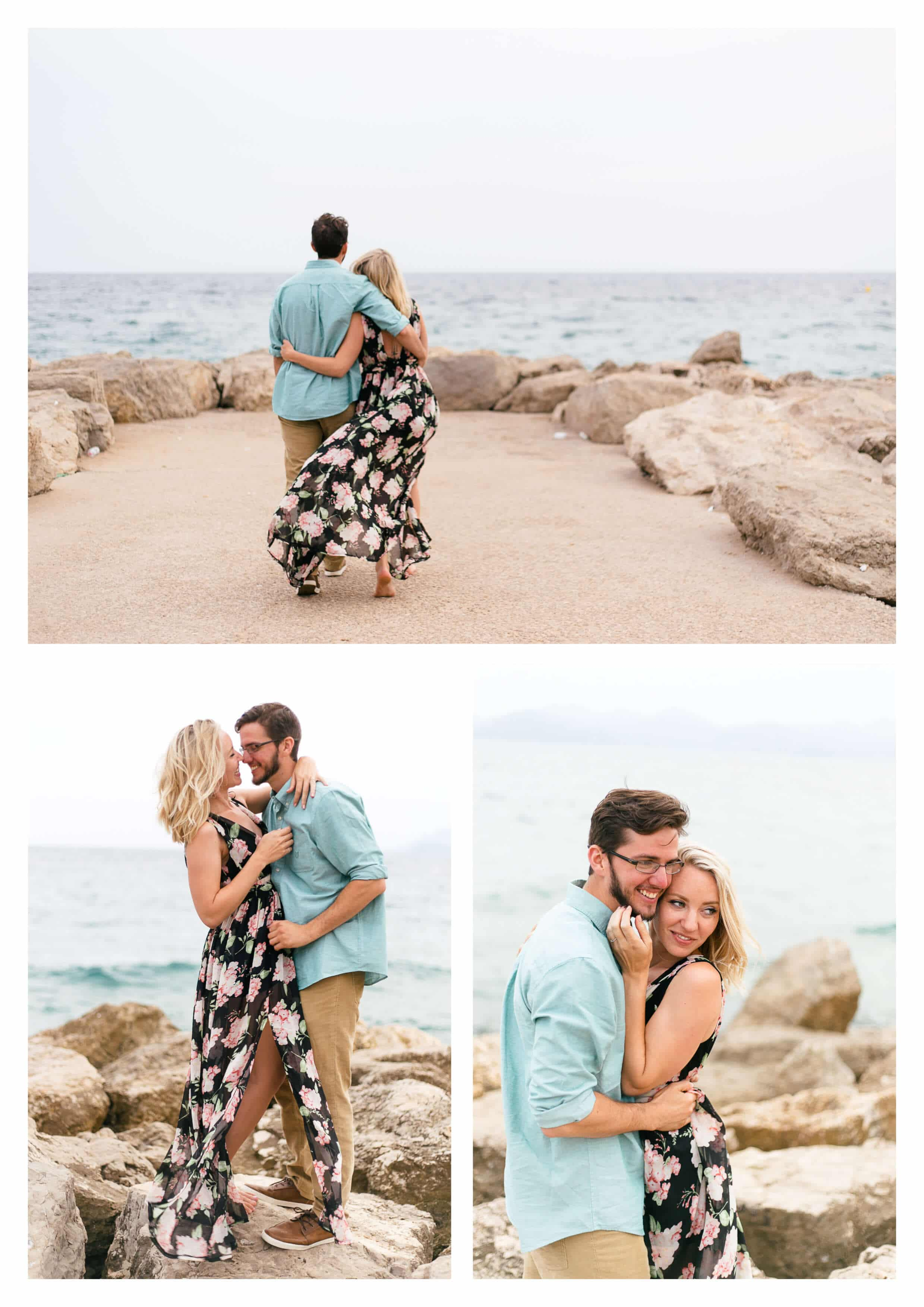 Surprise Proposal in French Riviera Cannes Engagement Photographer