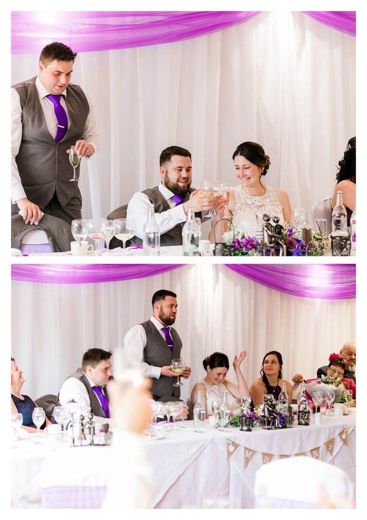 Hickstead Hotel Wedding Breakfast Reception - Burgess Hill Wedding Photographer