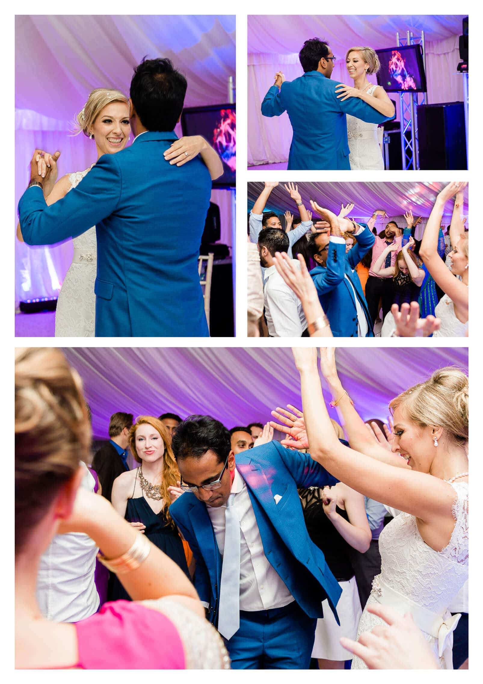 Baddow Park wedding breakfast marquee dance lighting | Essex photographer