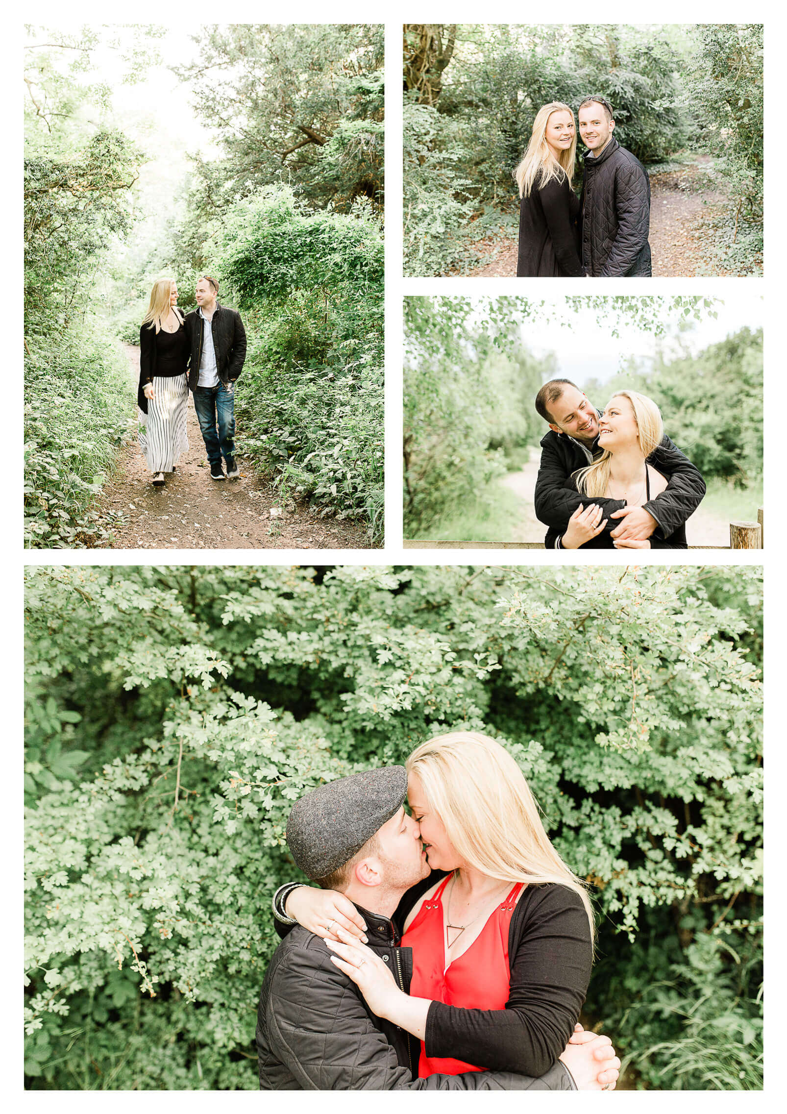 North Downs Box Hill couple engagement portrait | Surrey pre-wedding photographer
