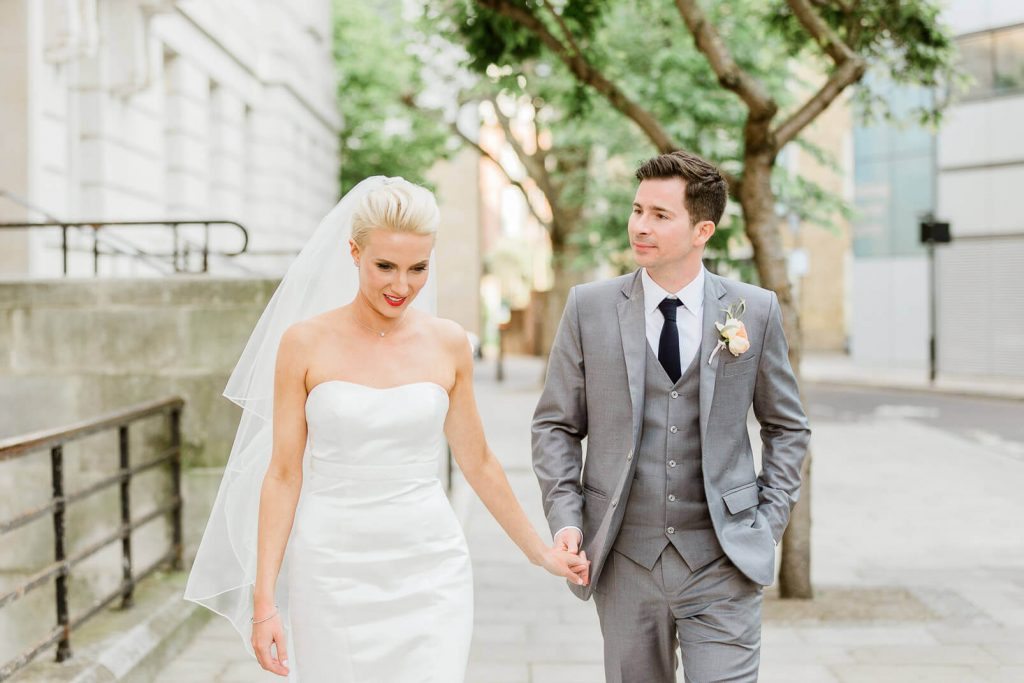 Hackney Town Hall wedding couple portrait | London photographer