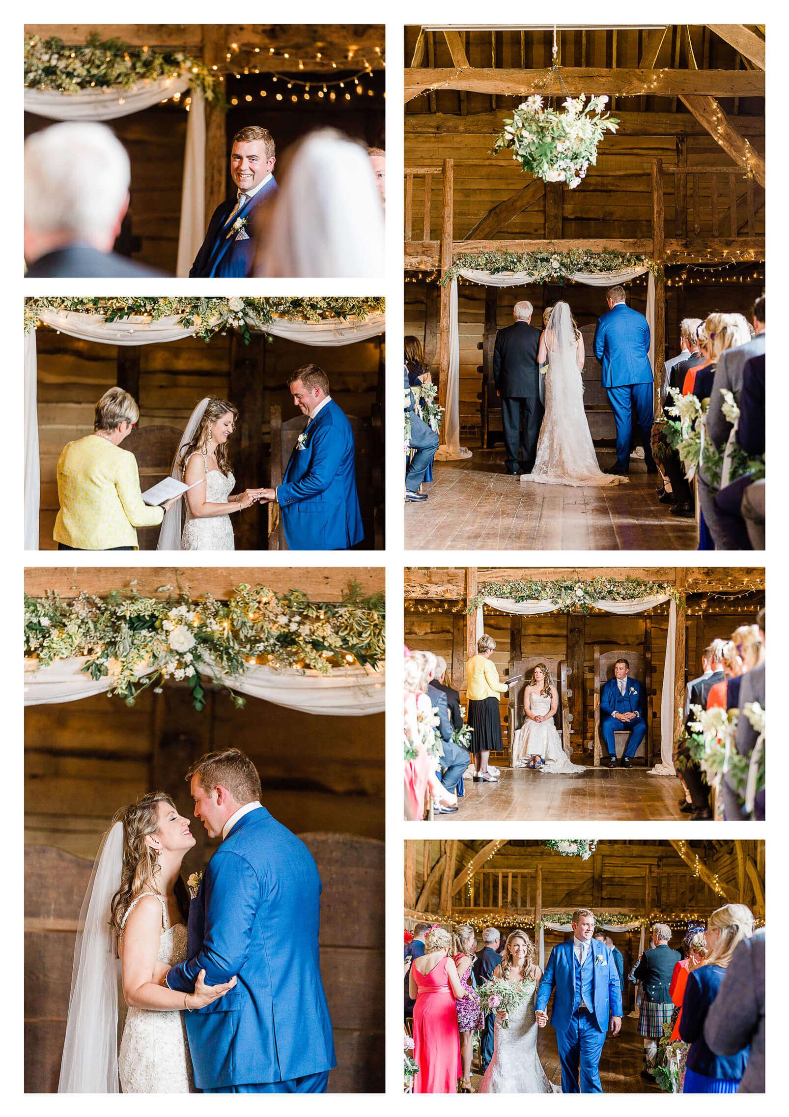 Michelham Priory barn wedding ceremony in Hailsham | East Sussex Photographer