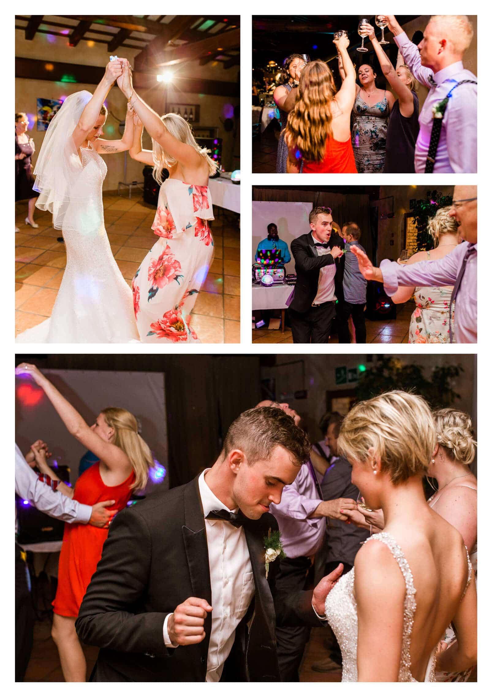Reception dancing at Fossa Mala | Pordenone wedding photographer