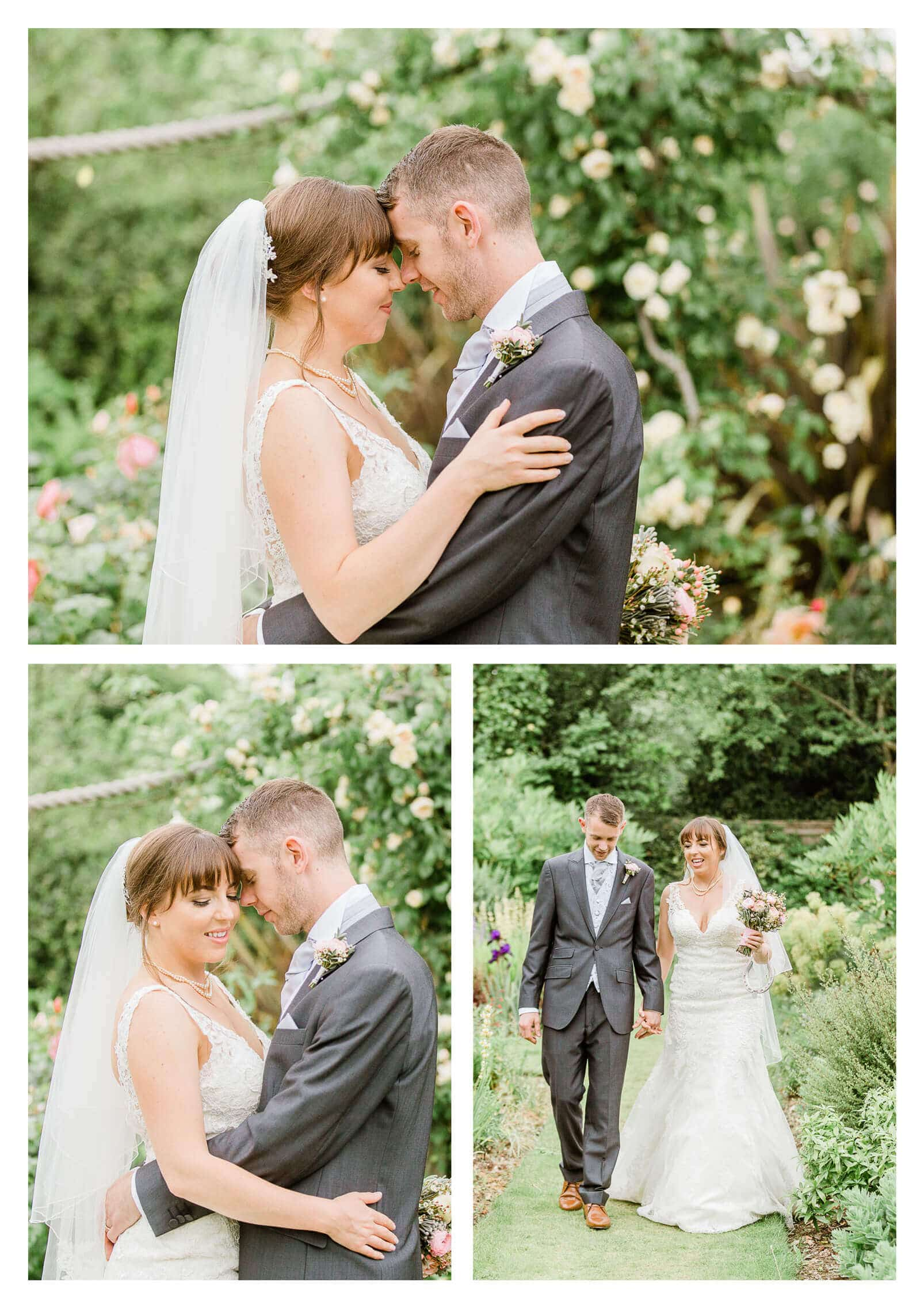 Chichester Cathedral wedding couple portraits in garden | West Sussex photographer