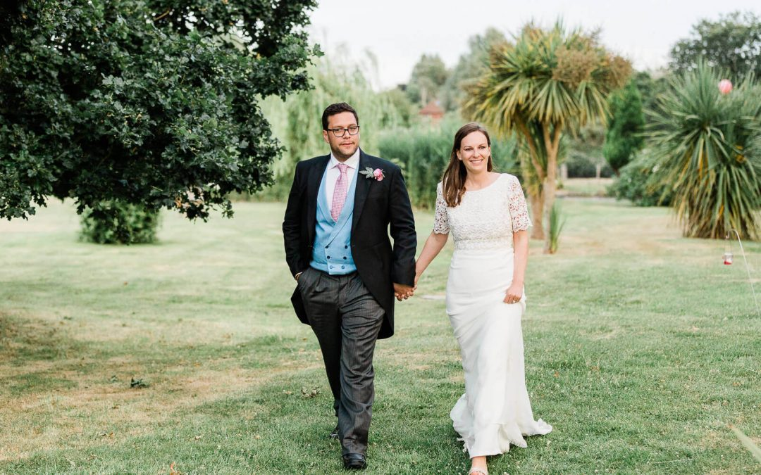 Private Itchenor wedding marquee couple portraits on marshland | West Sussex photographer