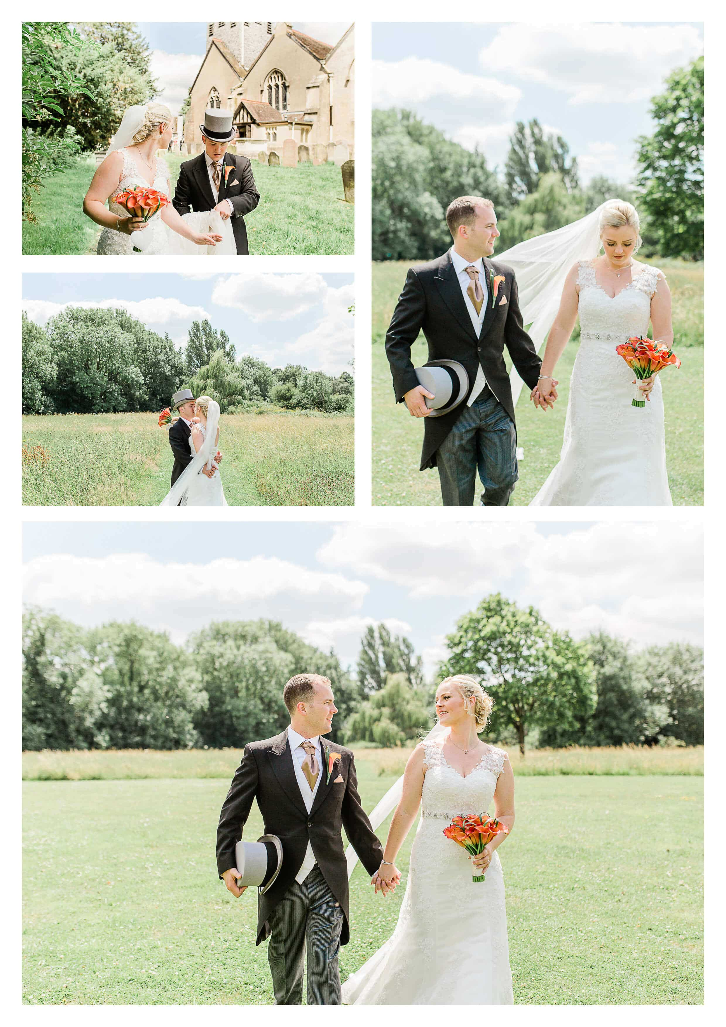 St Bartholomew's Church wedding couple portraits | Surrey Photographer