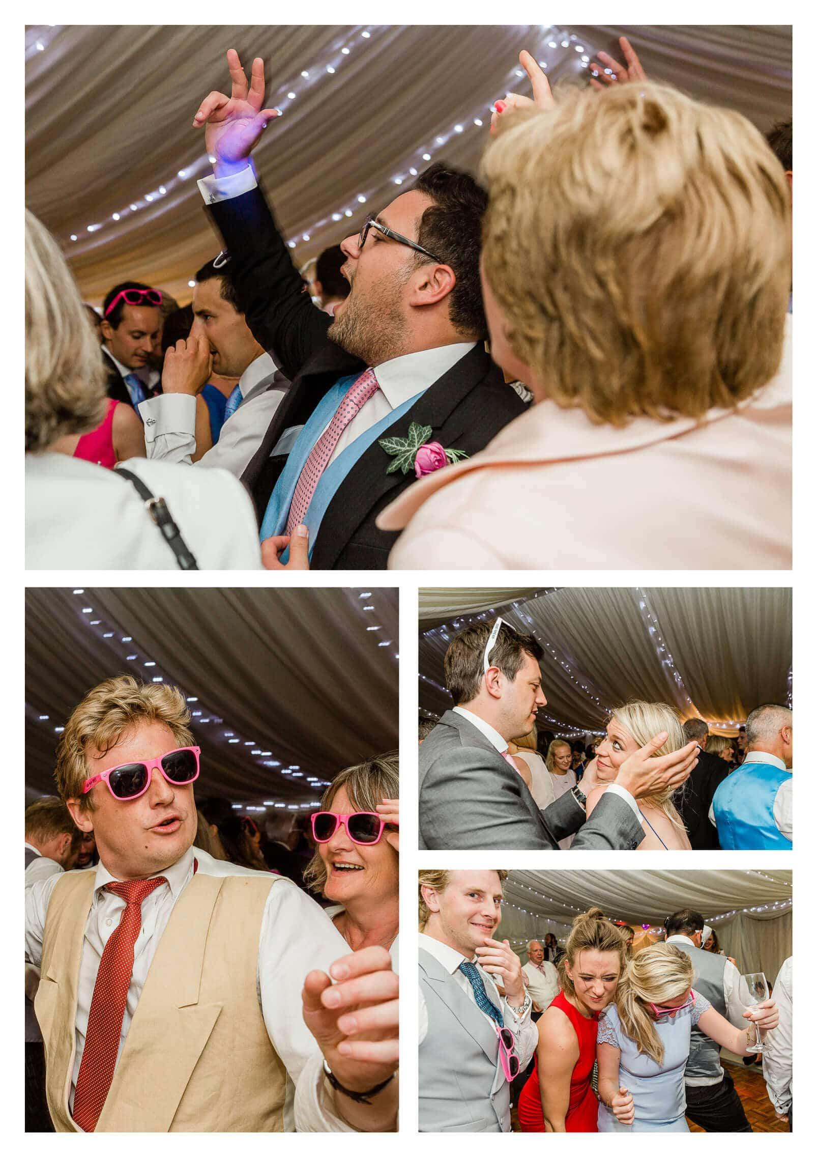West Itchenor garden marquee wedding reception | Chichester wedding photographer