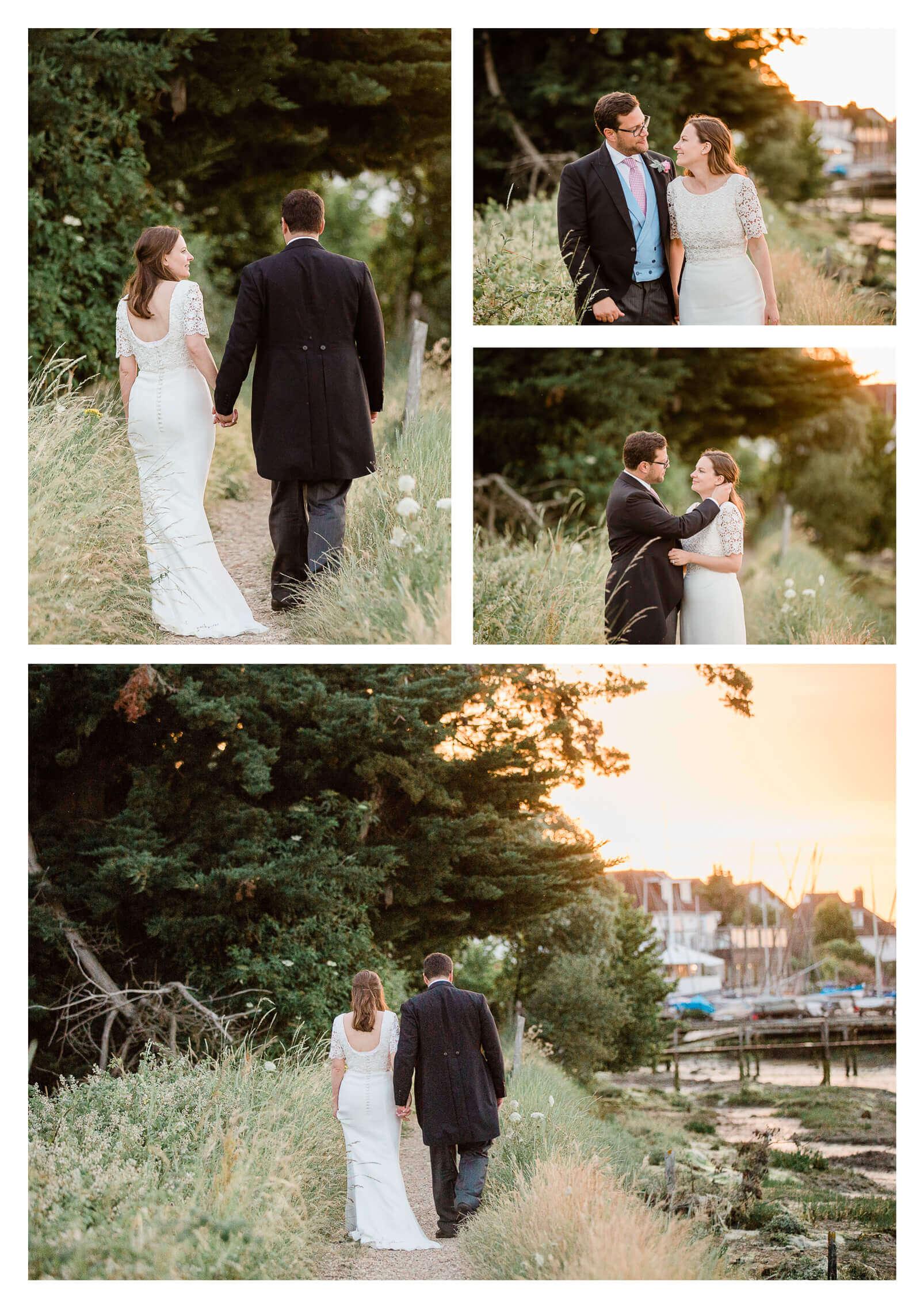 West Itchenor marshland wedding portraits in Chichester | West Sussex Photographer