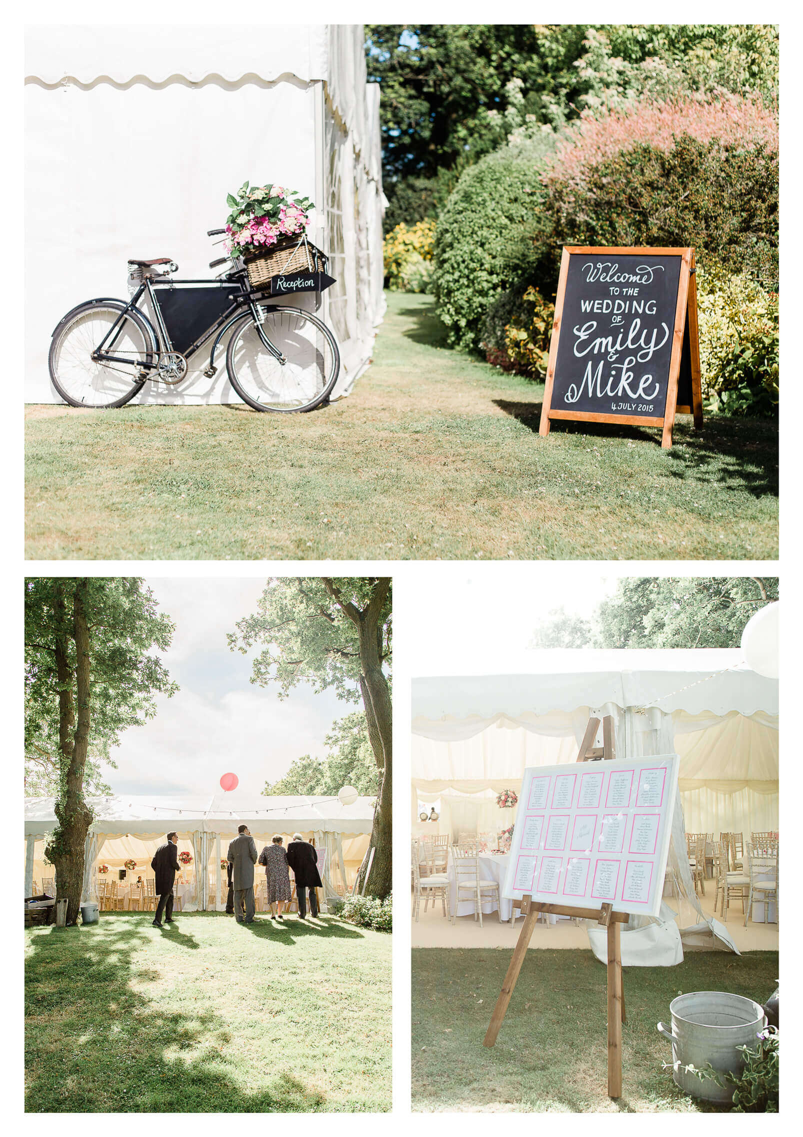 West Itchenor wedding breakfast in private marquee | West Sussex photographer