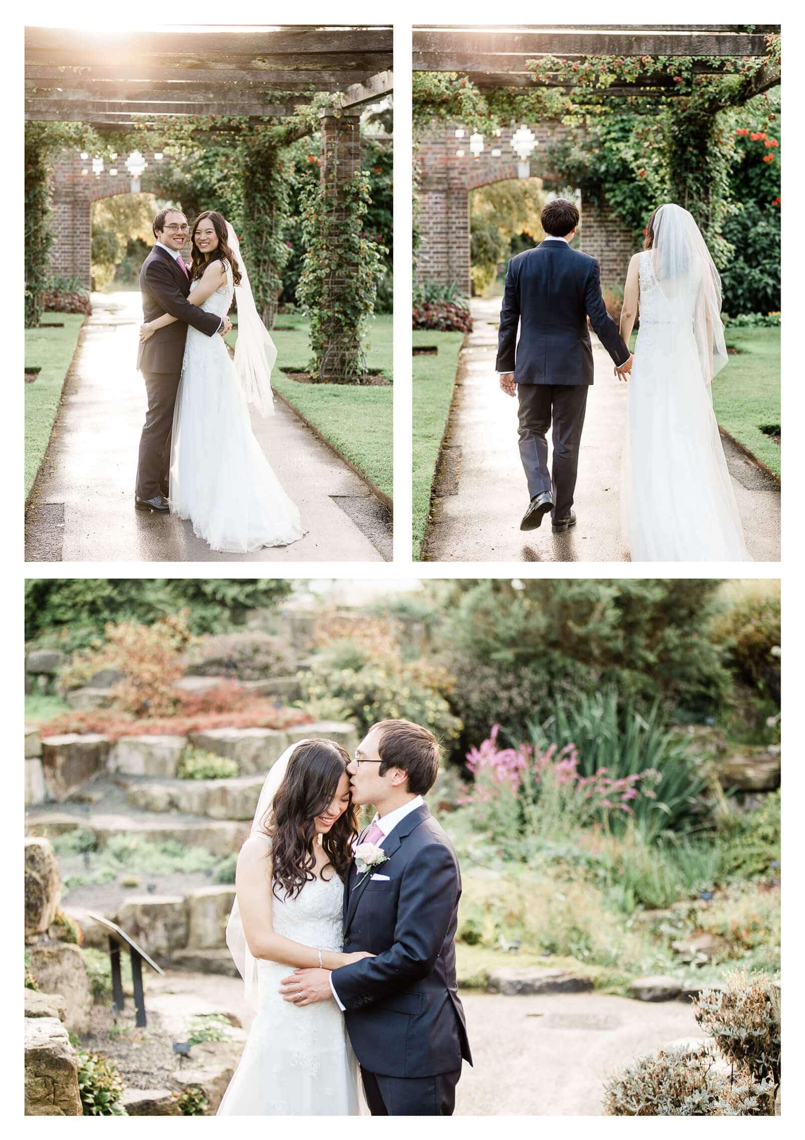 Wilden Bride wedding dress couple portraits at Kew Gardens | London photographer