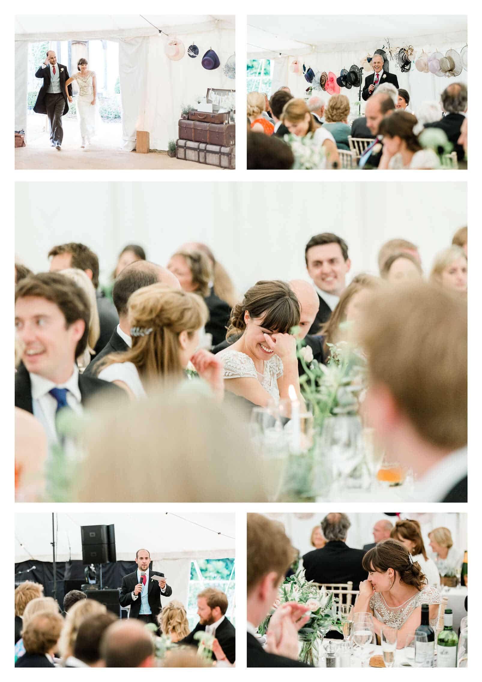 Woolbeding Midhurst marquee estate wedding toasts | West Sussex photographer