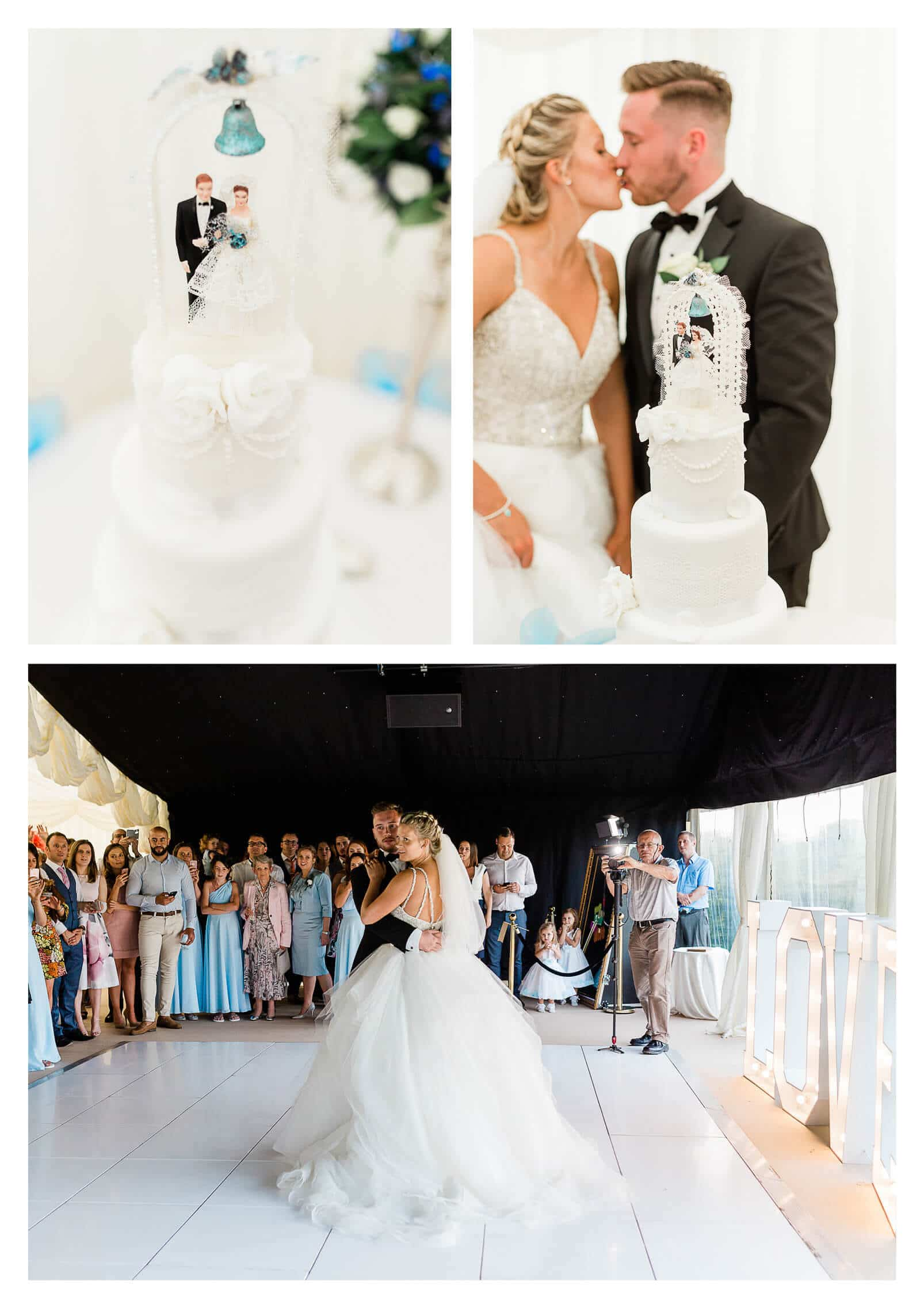 Cake and first dance at Zinnia Gardens | wedding photographer