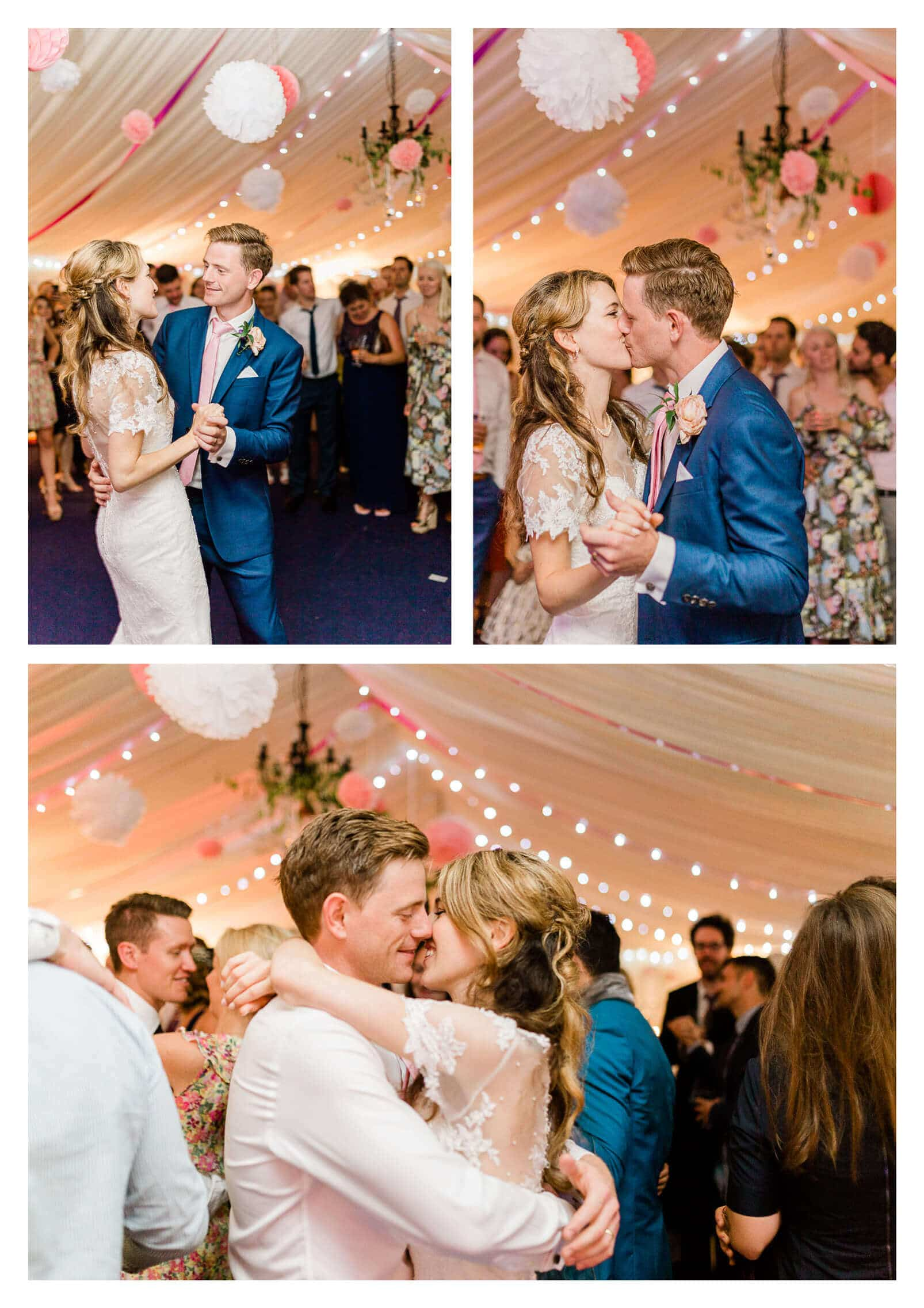 First dance in Lewes marquee | Anchor Inn wedding photographer