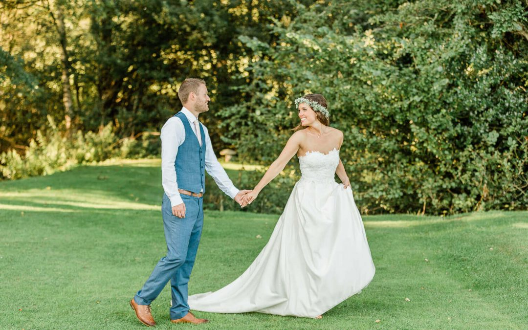 Brookfield Barns wedding boho couple portraits | Horsham photographer