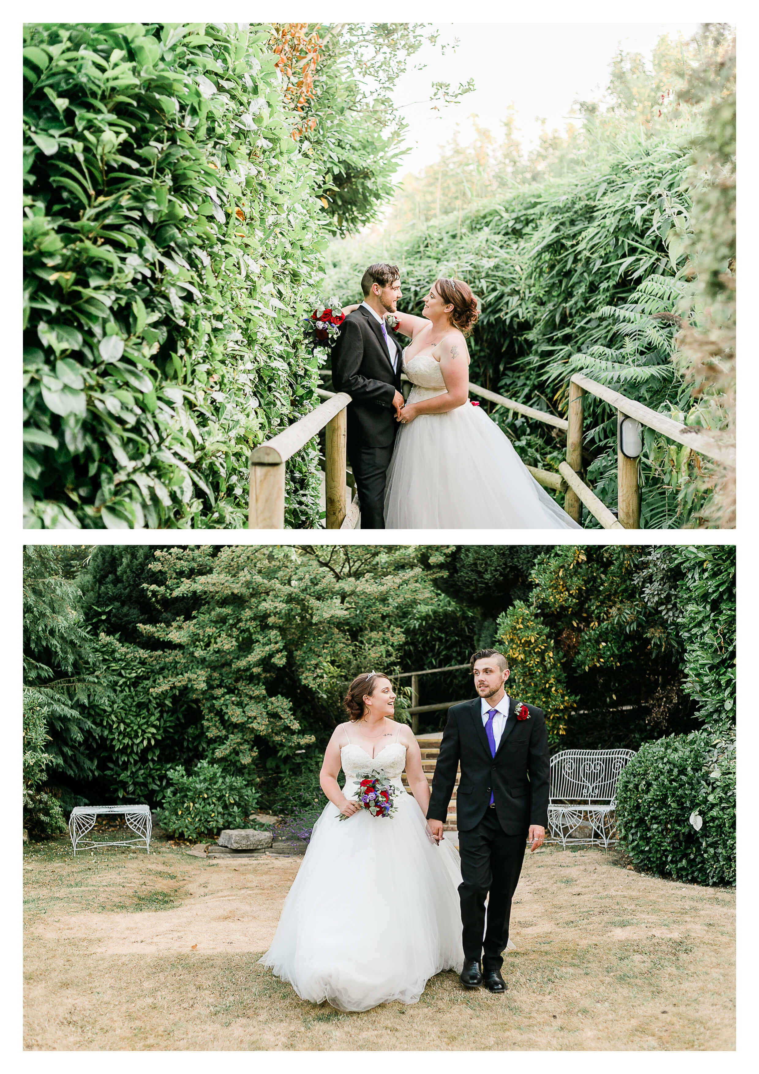 Pelham House Gardens Wedding Couple Portraits | Lewes Wedding Photographer