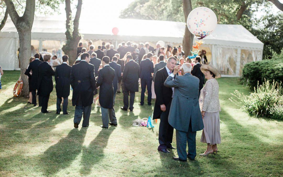 Private luxury marquee wedding breakfast reception | Haywards Heath Photographer