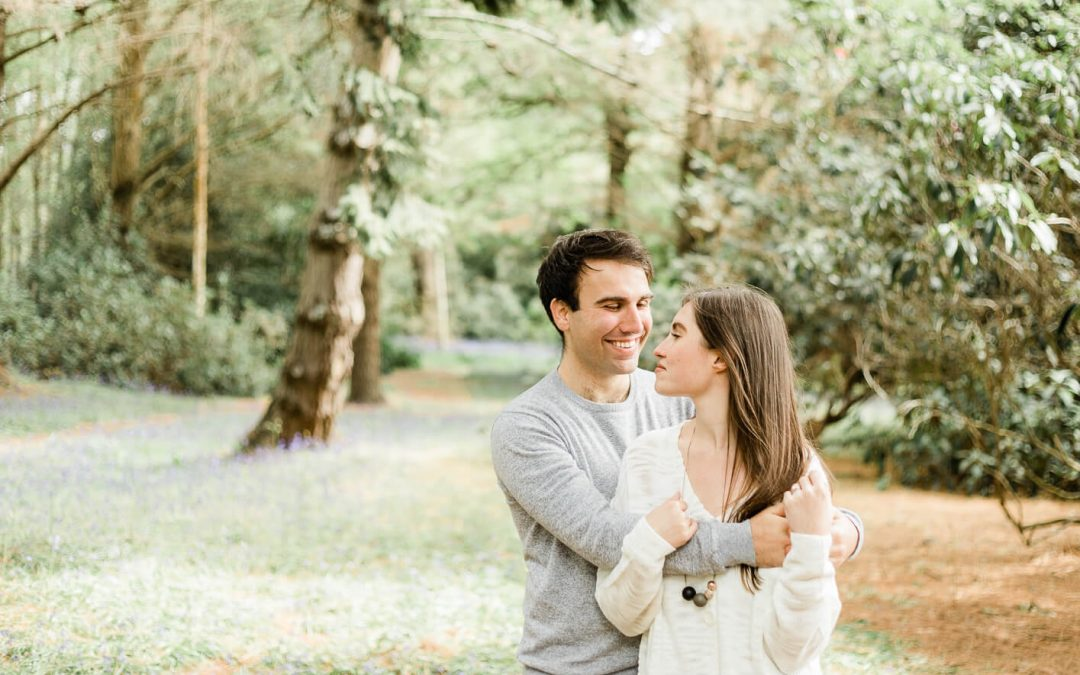 Sheffield Park engagement photography in bluebells | Brighton Engagement Photographerjpg