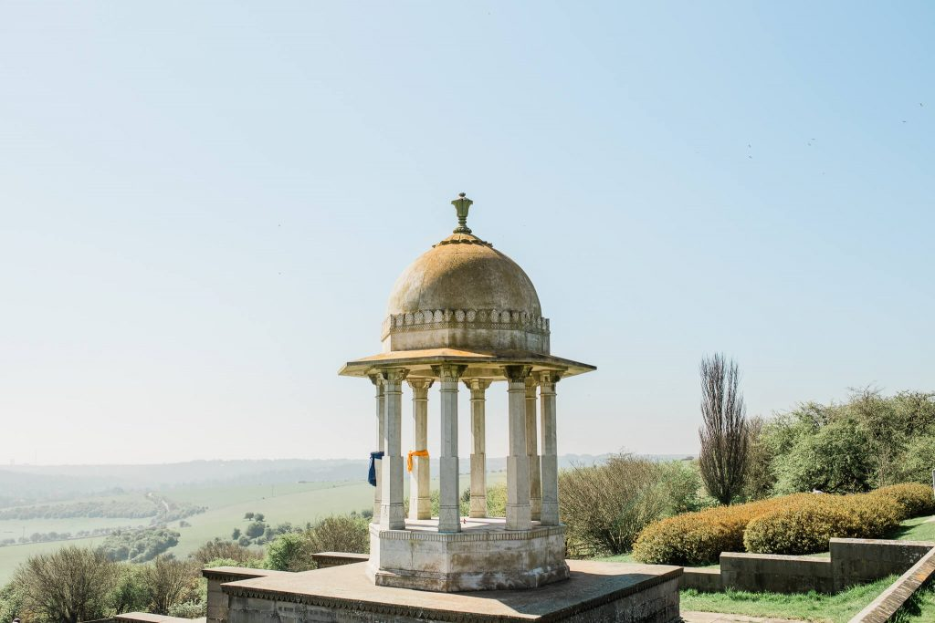 The Chattri Monument engagement photography in Brighton best place to propose on South Downs