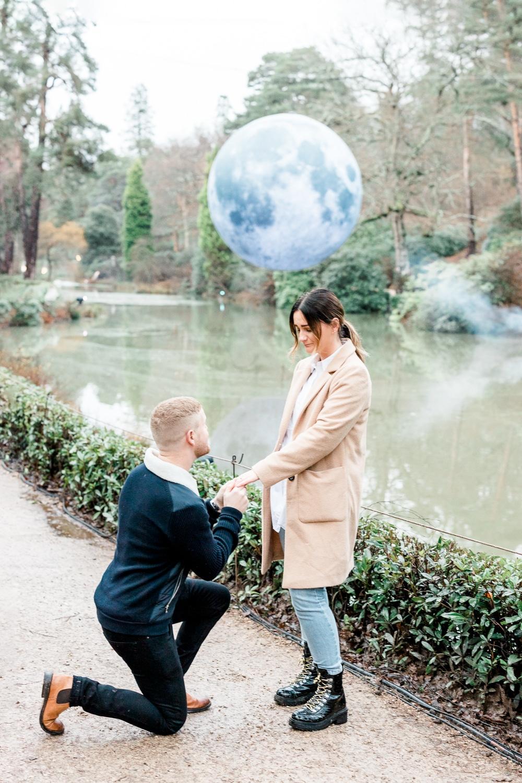 Engagement proposal photography at Leonardslee Gardens in Horsham
