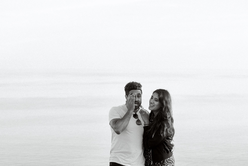 emotional proposal at beachy head engagement with Brighton photographer