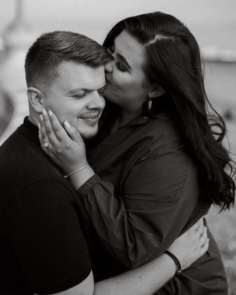 Brighton seafront proposal engagement photography