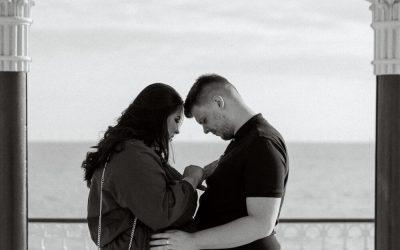 Engagement proposal at Brighton Bandstand