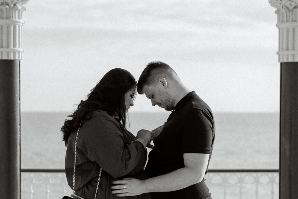 Engagement photography proposal at Brighton Bandstand