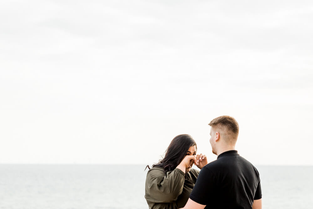 Engagement proposal at Brighton Bandstand with Brighton wedding photographer
