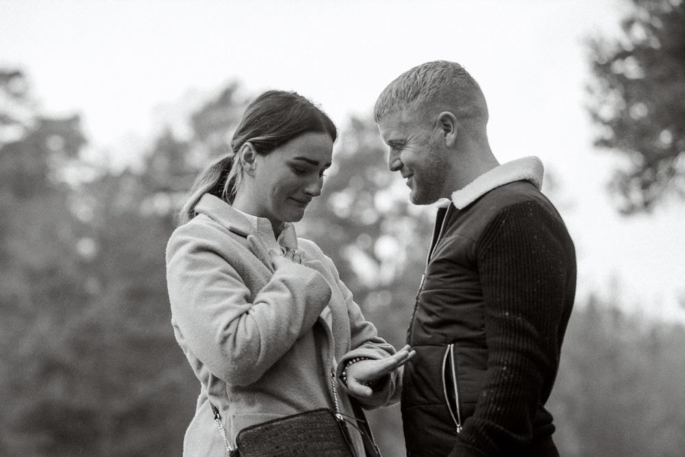 Surprise engagement proposal at Leonardslee Gardens