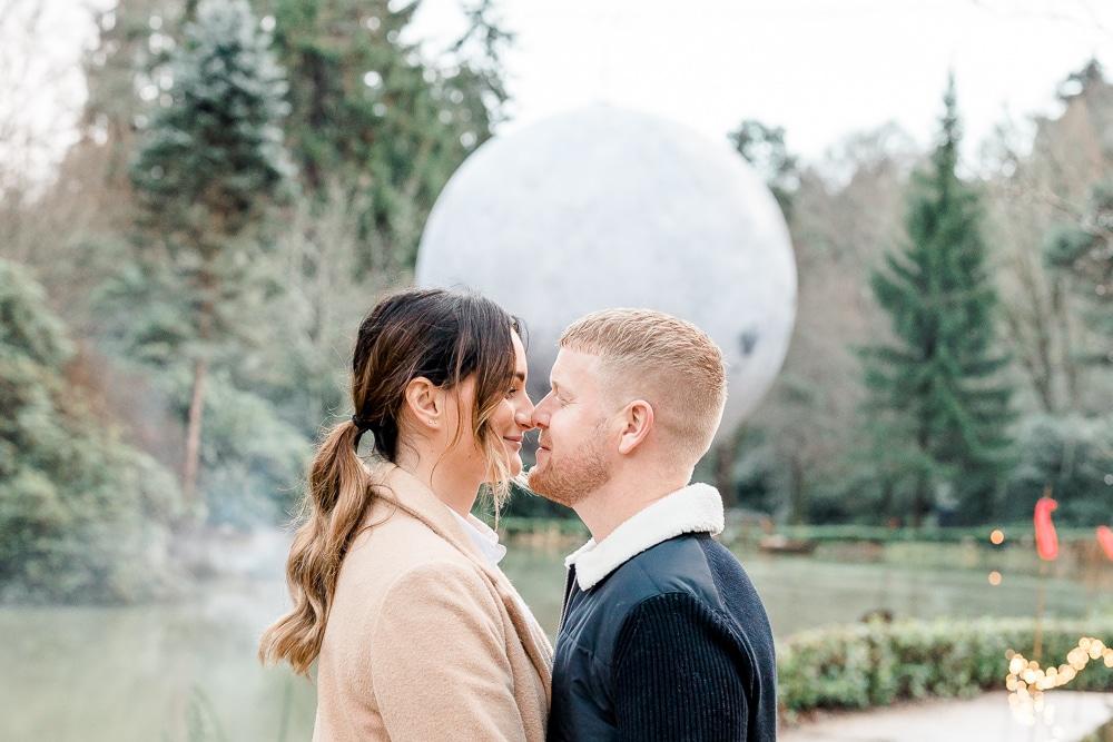 Engagement proposal at Leonardslee Gardens in Horsham
