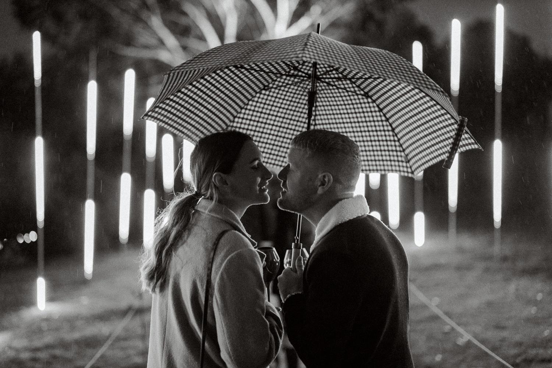 Illuminated event at Leonardslee Gardens engagement photography
