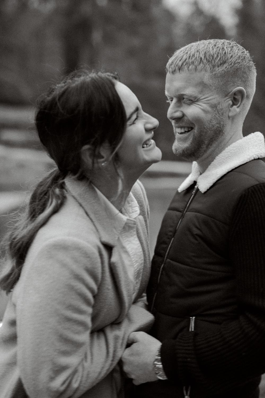 Engagement proposal photography in Horsham at Leonardslee Gardens