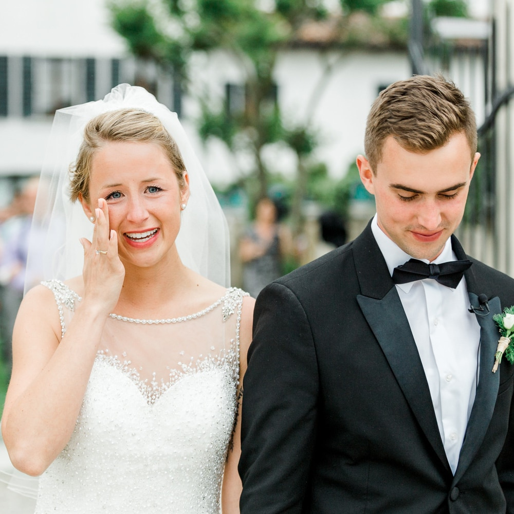 wedding photographer in east sussex capturing emotional recessional
