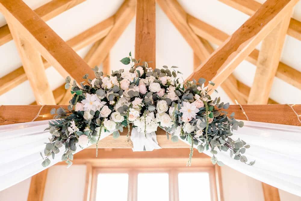 Brookfield Barn wedding photos of indoor ceremony