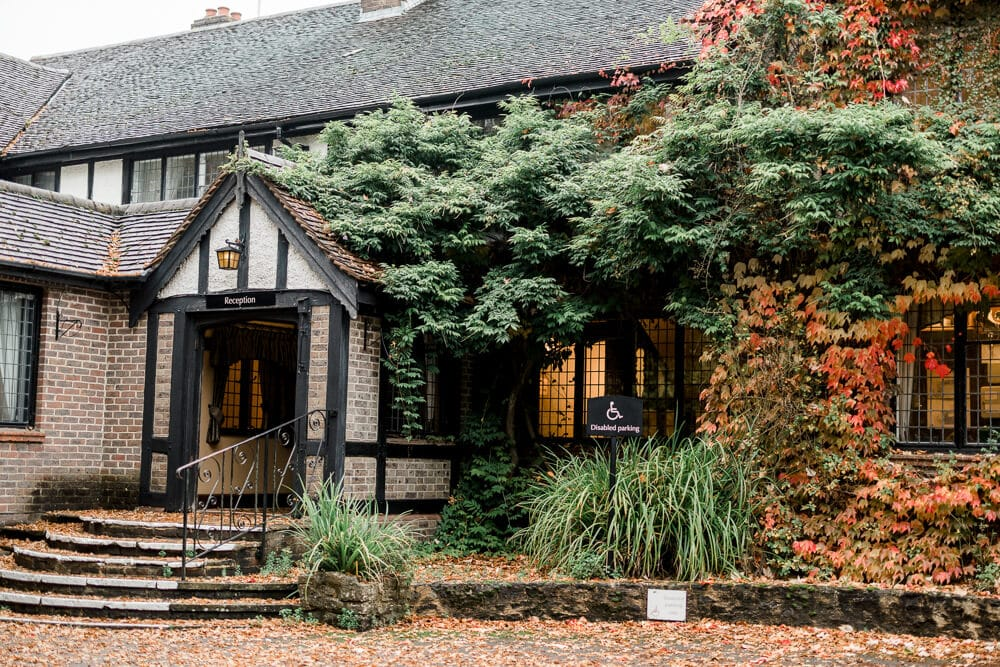 Cisswood house wedding venue in Autumn