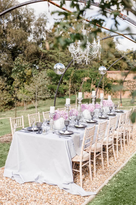 Greentrees Estate wedding breakfast table decor
