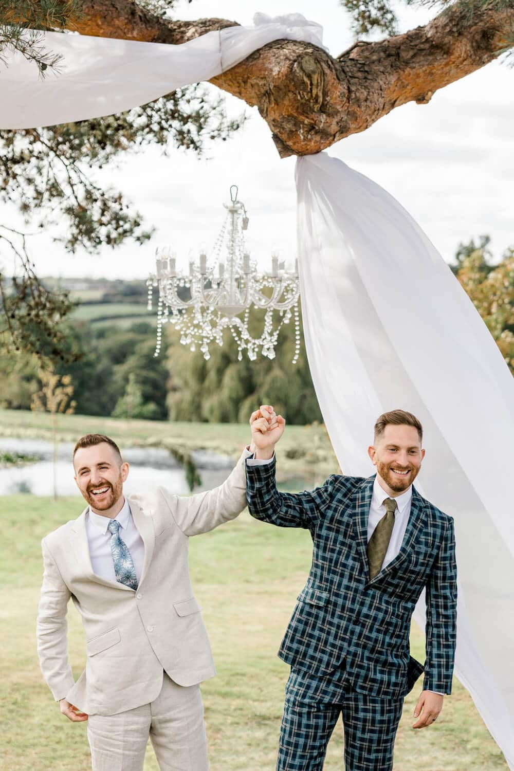 Greentrees Estate  wedding ceremony for same sex couple in Haywards Heath