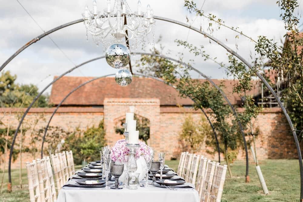 Greentrees Estates wedding breakfast table decorations