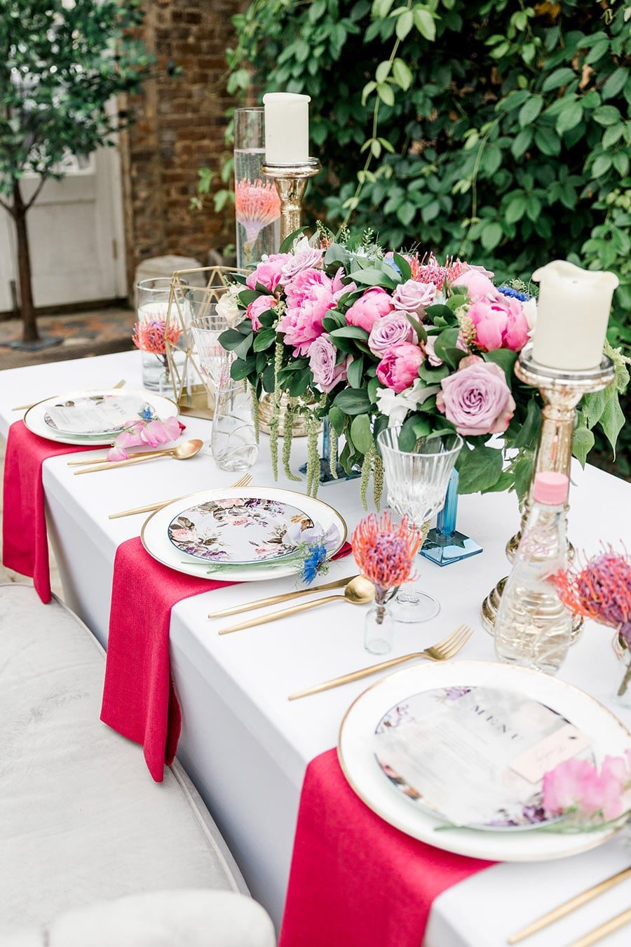 Slindon College wedding inspiration for table setting