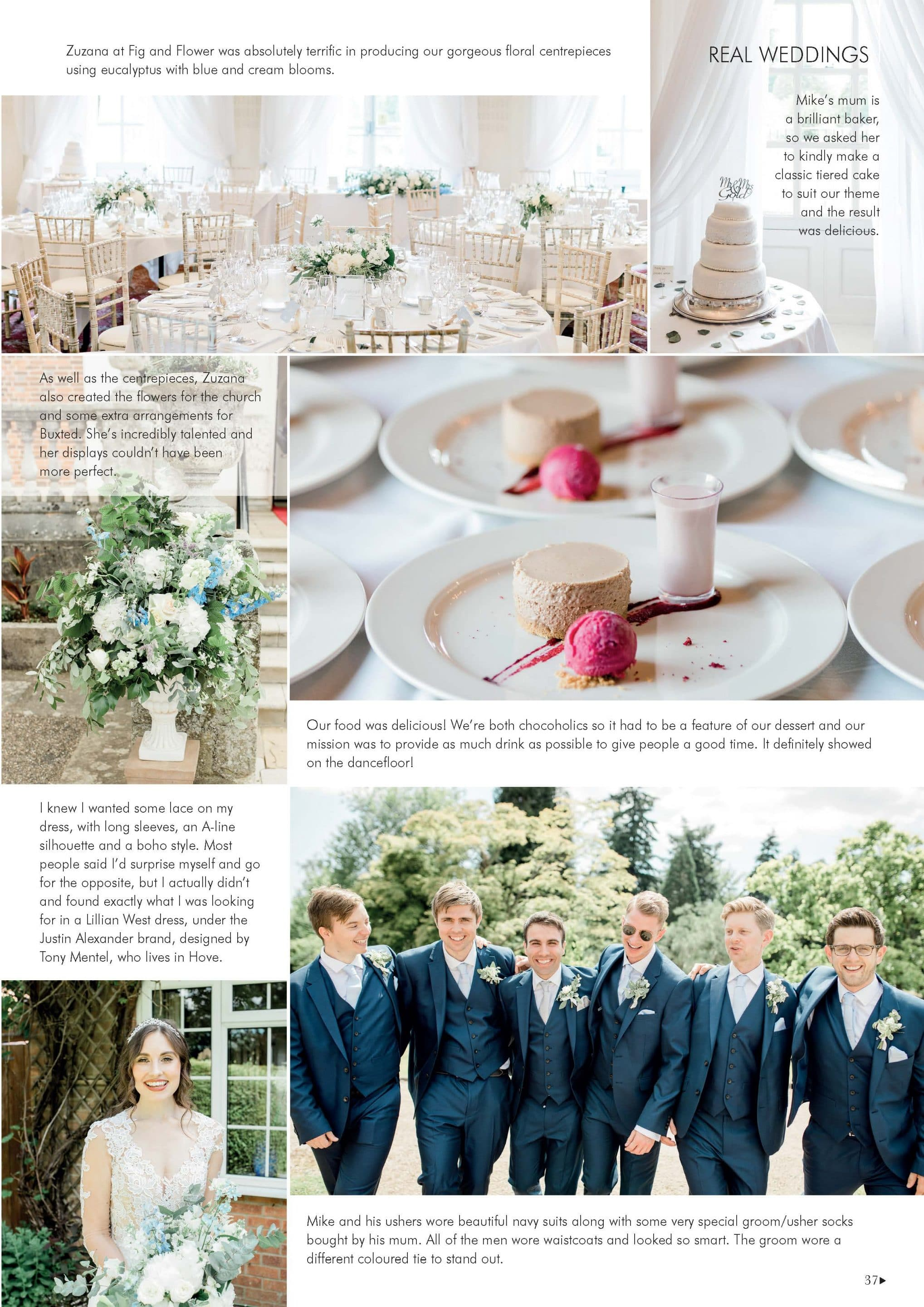 Uckfield wedding at Buxted Park featured in Your Sussex Wedding